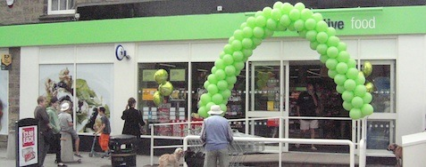 Menston village coop on reopening day