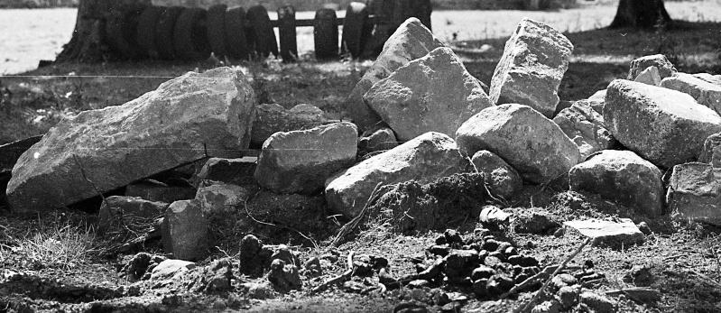 Stones in a field off Bingley Road