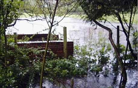 Picture of flooding in Menston village