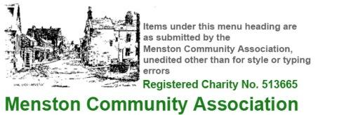 Menston Community Association website section banner head