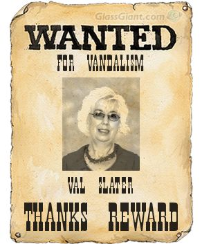 Wanted for vandalism posterm Slater