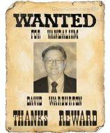 Wanted for vandalism poster David Warburton