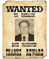 Wanted for vandalism poster David Warburton