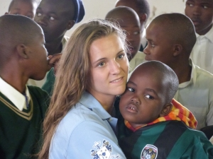 Chloe Tindale, one of two St Mary's Menston pupils who met Prince William at a Diana Award 'Inspire Day, with Zulu children in South Africa earlier this year
