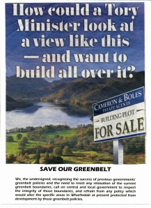 Poster for 'Save our Greenbelt'