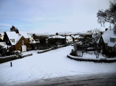 Farnley Road in snow