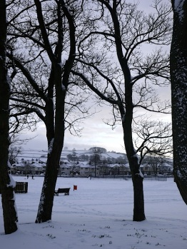 Looking towards a snowy Chevin