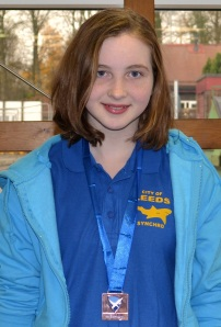 Samantha Breen, proud member of the Leeds synchronised swimming team