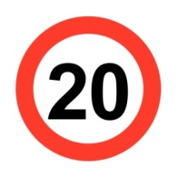 The 20mph road sign