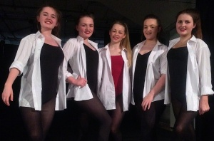 Winning dance team: Alicia Wilson (Choreographer), Chloe Williams, Devon Mitchell-McCann, Freya-Poppy Bowden and Gabriella Vento.