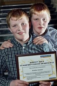 Kieran & Bradley Jackson of Menston - 'Outstanding Community Heroes'