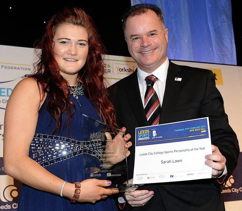 Sarah Lawn received her award