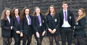 Young Ambassadors Amelia Walsh, Gabriella Vento, Alaya Tyrell, Ella Humphreys, Elizabeth Westhead, Aidan Conlon, Alice Clayton (and not on photograph – Matthew Farmer)
