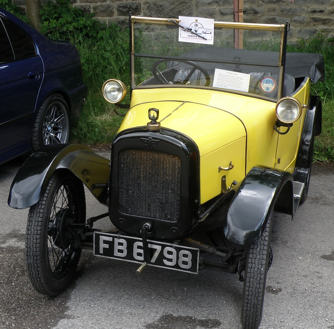 Vintage yellow Austin at the Jubilee show 2012
