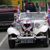 Classic MG TD decorated for the Jubilee celebrations in 2012