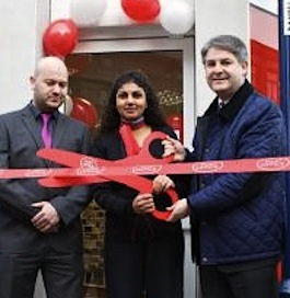 Philip Davies supporting local business in Bingley - a new look shop opening in January this year (T&A photo)