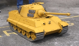 1/10 scale model Tiger tank
