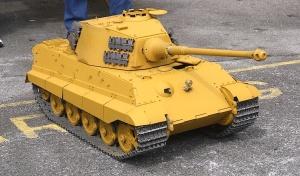 1/10 scale model Tiger tank