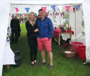Alison and Glenn Brookes, hosts for the 2014 Cleasby Road street party.