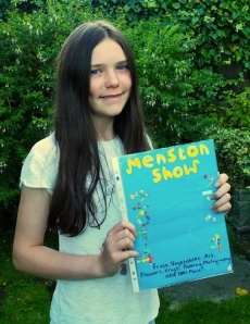 15 year old Anna Middleton with the poster she designed