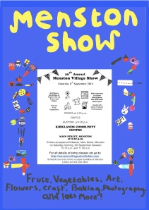 The Menston Show poster, designed by Anna Middleton