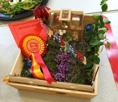 Charlie Hooton's miniature garden which won Best Children's Exhibit in the Show