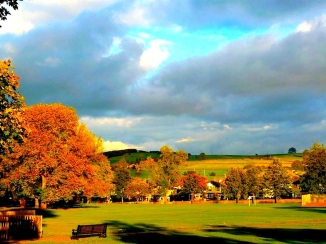 Petronela's Best in class landscape photo, an autumn view across the park towards the Chevin