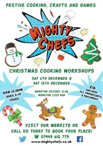 Poster for Mighty Cheffs 13 Dec event