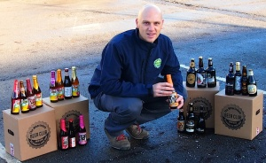 Menston entrepreneur Daniel Groom with a selection of some of the beers which can be delivered to your door by the Wharfedale Beer Club
