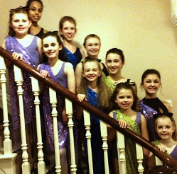 Troupe of dancers from Menston ballet/dancing classes at Kirklands. Details of classes under 'Events'