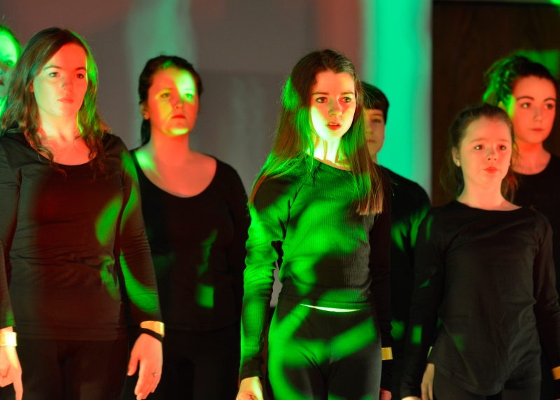 Dancers in the St Mary's Menston show 'We will rock you'