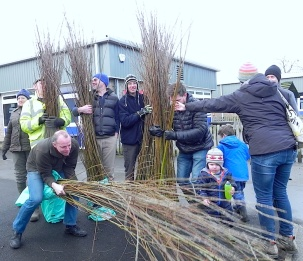 Back from Yorkshire Water at Esholt with wands for the willow tunnel