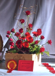 Best in show: Flower arrangement 'Menston Show 40th Birthday