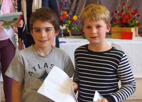 Joshua and Bobby, winners in the Ribston Pippin competition
