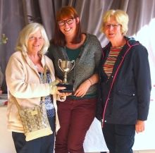 The adult handicrafts cup had to be shared by Lauren Smith, Carol Baldon and Gwen Smith