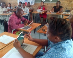 iPads in use in Mnyakanya school