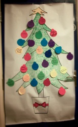 Ideas for future activities to make Menston more dementia friendly were recorded on this Christmas tree