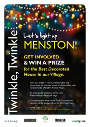 Light up Menston poster