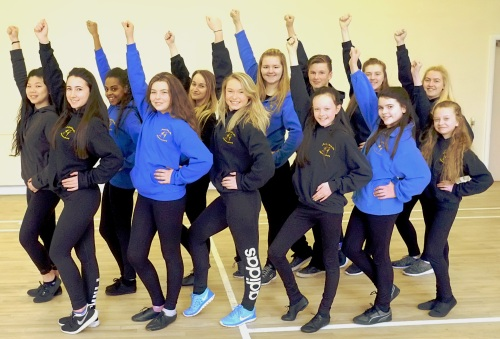 Set for Wembley, the Menston class team, left to right: back row; Kenix Lee, Emma Oxford, Ketie Quinn, Victoria Pickles, Sam Foster, Niamh Cater, Caitlin Brister; front row: Josephine Gibbs, Madeleine Wolfenden, Mollie Foster, Emma Townsend, April Lever, Megan Dobbin.