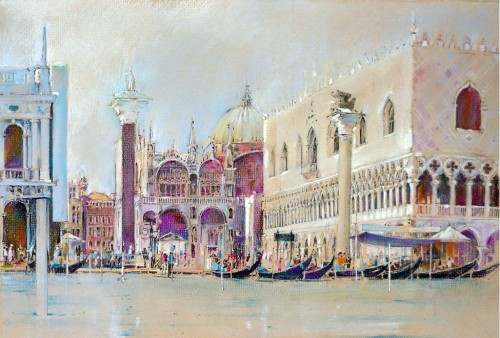 The Doges palace in Venice by John Ridyard