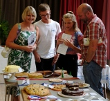 Family admiring for the baking entries