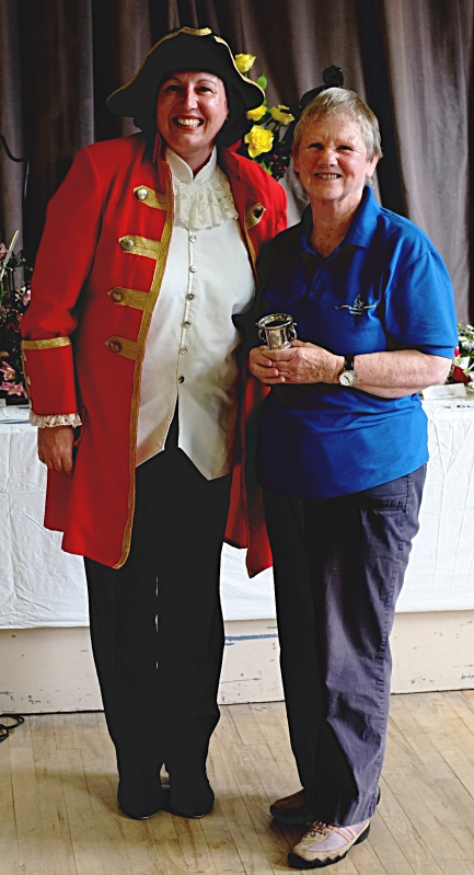 J Endersby with the Menston Show Photography Cup gained with her two entries, including best in class for her dawn/dusk picture. With town crier