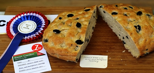 Best in Show in the Junior classes; focaccia bread made by Olivia Ashworth Ellis