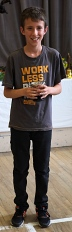 Owen Sage who won cups for floral art, novelty and baking as well as for handicrafts in the 11-14 years classes