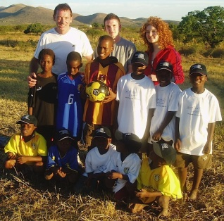 David Geldart, back left, in South Africa in 2006