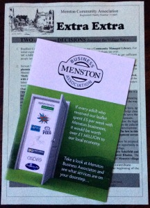 Picture of MCA newsletter and MBA leaflet