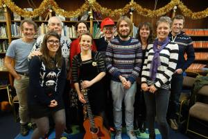 Members who presented some of the work at the 'Winter Tales' event in Ilkley Library in December 2016.