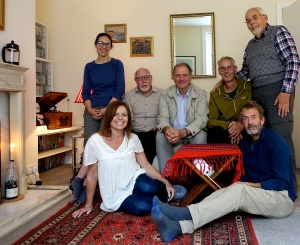 Back row, l to r, Ruxandra, John, Martin, James, Roger; front, Jo and Bob. Photo after rehearsal on Saturday - not all members due to 'perform' could make it.